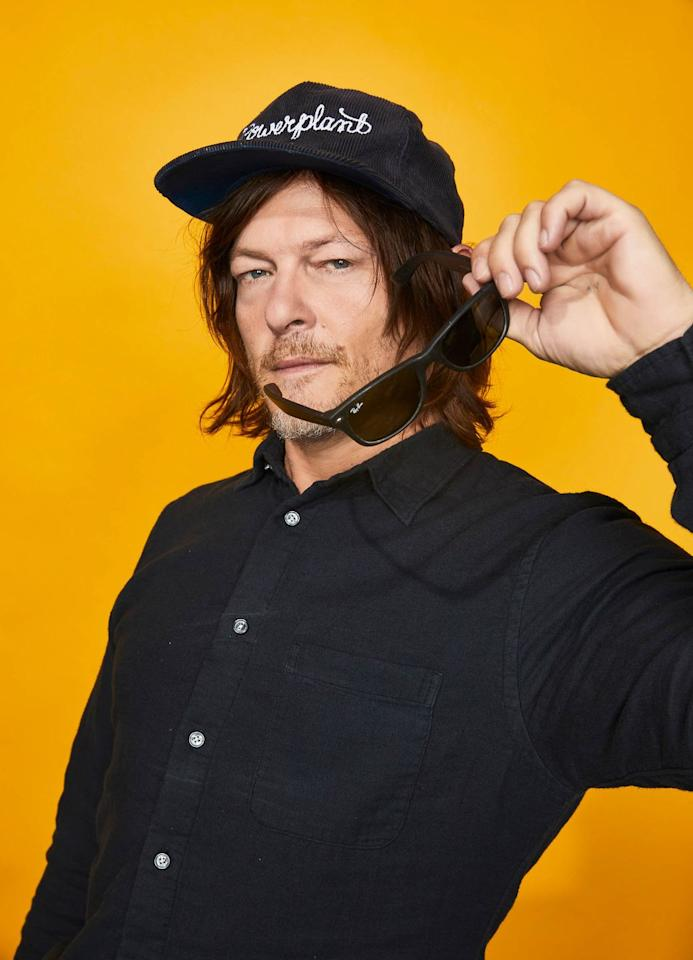 <p>Norman Reedus of 'The Walking Dead' poses for a portrait at the Pizza Hut Lounge at 2019 Comic-Con International: San Diego on July 20, 2019 in San Diego, California.</p>