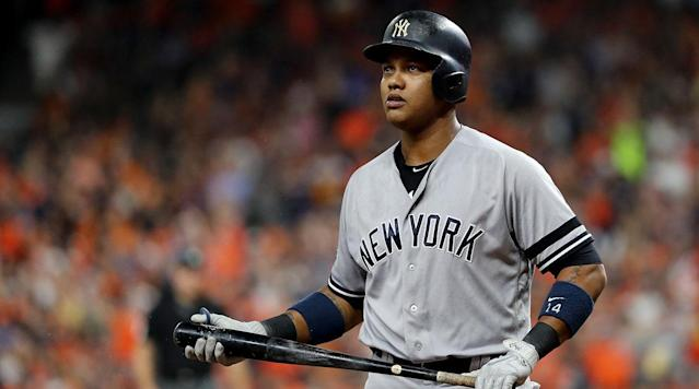 "<p>Second baseman Starlin Castro has yet to play a game for the Miami Marlins but already wants to be traded, <a href=""https://twitter.com/Ken_Rosenthal/status/951115630014554112"" rel=""nofollow noopener"" target=""_blank"" data-ylk=""slk:according"" class=""link rapid-noclick-resp"">according</a> to Ken Rosenthal of The Athletic. Castro does not want to be part of another rebuilding process like he was with the Chicago Cubs from 2010 to 2015.</p><p>Castro was acquired by the Marlins in the December trade that sent National League MVP Giancarlo Stanton to the New York Yankees. Stanton is expected to be the team's starting second baseman after the Marlins dealt Dee Gordon to the Seattle Mariners.</p><p>The New York Mets were rumored to have interest in Castro shortly after the Stanton trade, if the Marlins were willing to flip him for more prospects. Castro's contract has him slated to earn $10 million in 2018, $11 million in 2019 and includes a $16 million option or $1 million buyout for 2020.</p><p>Castro is coming off a season in which he hit .300/.338/.452 with 16 home runs and 63 RBIs in 112 games. He spent just two seasons in New York after rising to stardom with the Cubs. The Cubs traded him to the Yankees in December 2015 for pitcher Adam Warren and Brendan Ryan. The Cubs went on to win the World Series in 2016.</p><p>The Marlins are also reportedly listening to offers for outfielder Christian Yelich and catcher J.T. Realmuto as the fire sale under a new ownership group, which includes Derek Jeter, continues. The Marlins' goal is to get their Opening Day payroll around $90 million.</p>"
