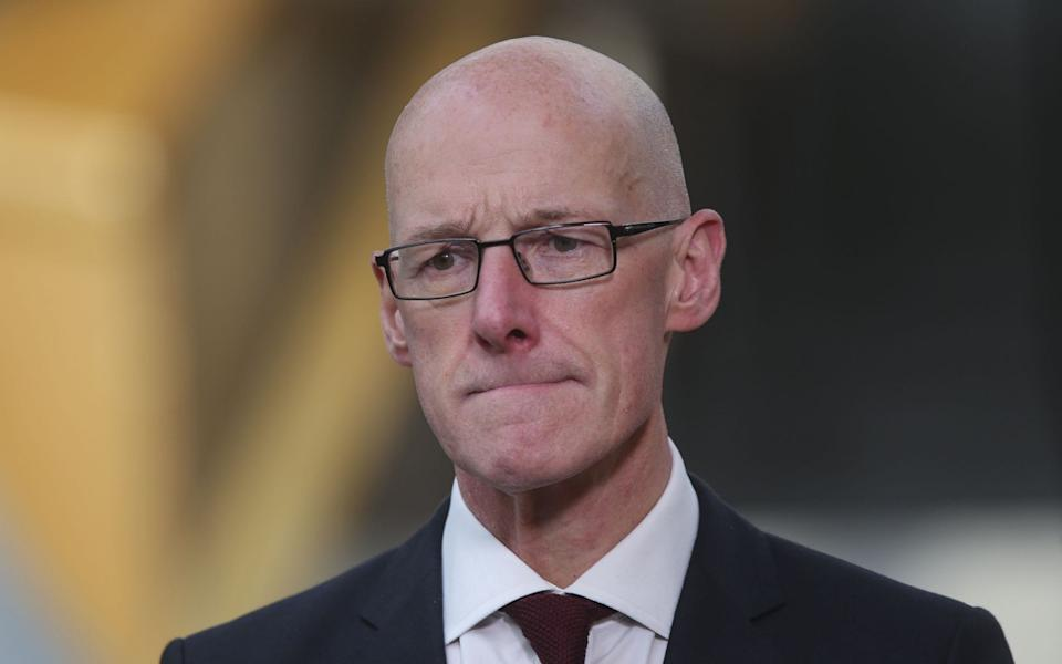 Education Scotland is accountable to Scottish ministers and John Swinney, the Education Secretary, was urged to intervene - Getty Images Europe/Pool