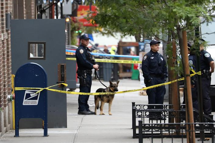 <p>Police stand guard after the report of a suspicious package in the Manhattan borough of New York City, Oct. 26, 2018. REUTERS/(Photo: </p>