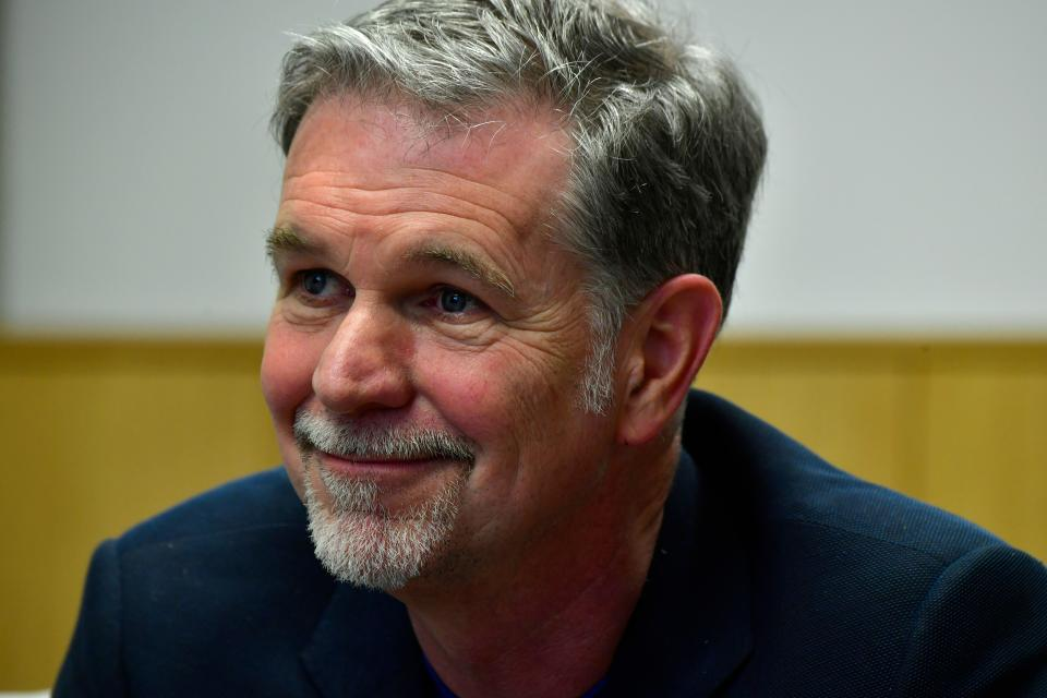 Founder and CEO of Netflix Reed Hastings is pictured during a Netflix event on March 1, 2017 in Berlin. (Photo by John MACDOUGALL / AFP) (Photo by JOHN MACDOUGALL/AFP via Getty Images)
