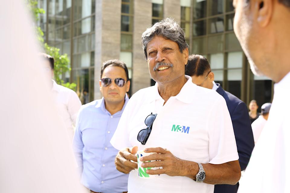 GURUGRAM, INDIA  MAY 18: Former cricketer Kapil Dev during an interview with Hindustan Times for the upcoming movie 83 based on 1983 Cricket World Cup, at Golf Course Extension, Gurugram, India. Kapil Dev, who captained the Indian cricket team that won the 1983 Cricket World Cup, the countrys first World Cup, is thrilled that a movie based on it is coming out soon. The legend says, I dont know what to say...but its a great feeling. I think its a commendable effort that somebody is bringing something like the 83 World Cup to the public. (Photo by Manoj Verma/Hindustan Times via Getty Images)