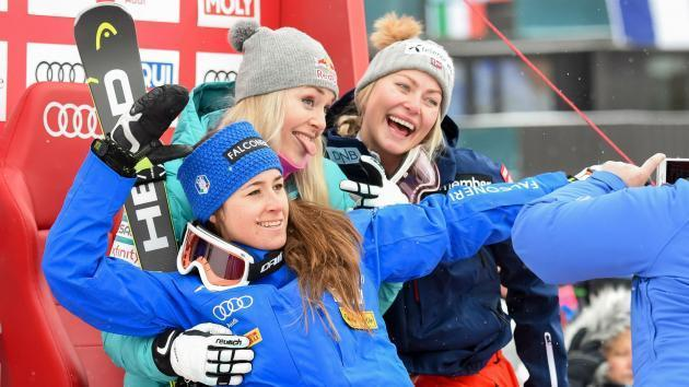 <p>Vonn lets her skiing do the talking after Donald Trump controversy</p>