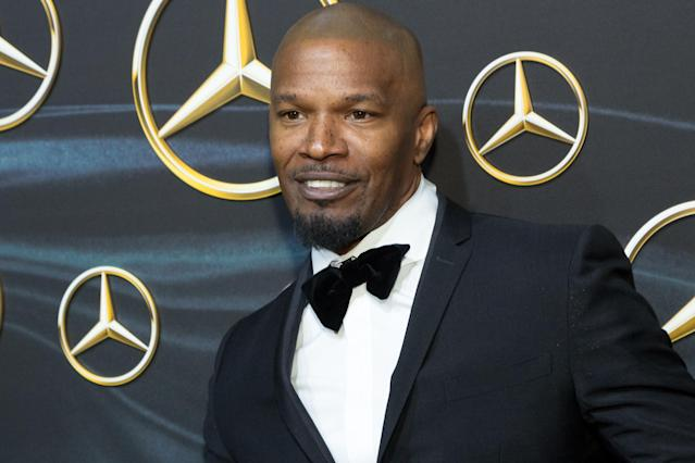 Jamie Foxx attends the Mercedes-Benz USA Official Awards Viewing Party at the Four Seasons Hotel Los Angeles at Beverly Hills on March 4, 2018. (Photo: Greg Doherty/Getty Images)