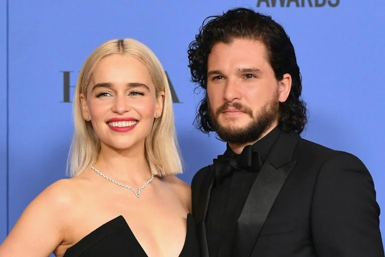 """Emilia Clarke and Kit Harington, pictured in 2018, were nominated in the lead acting categories for """"Game of Thrones"""""""