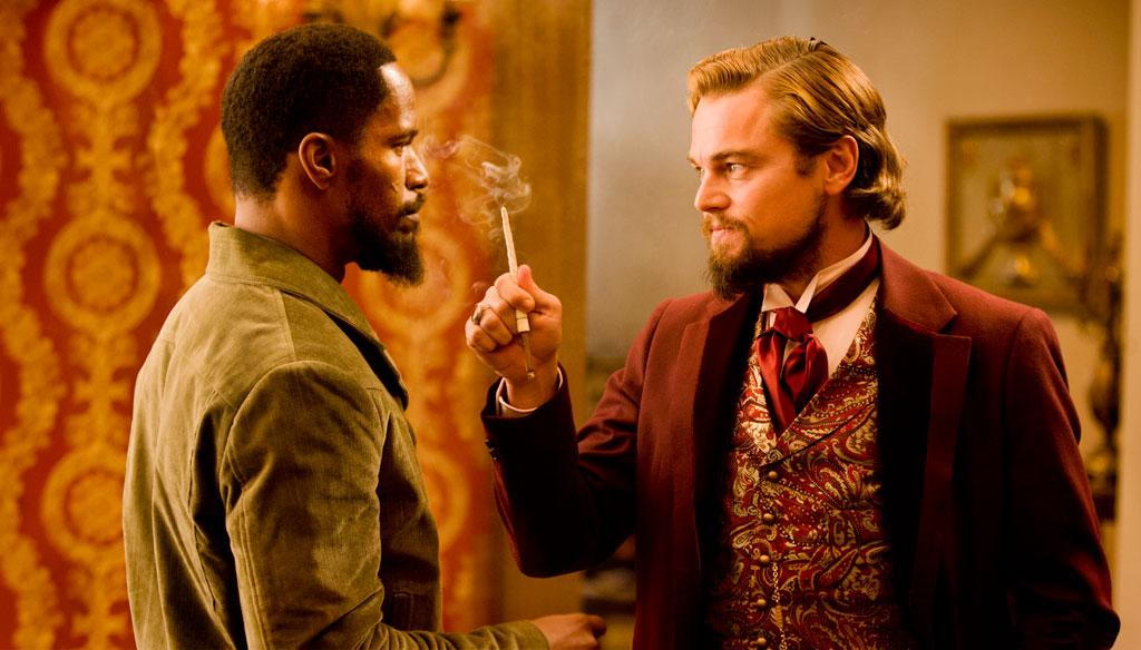 "Jamie Foxx and Leonardo DiCaprio in The Weinstein Company's ""Django Unchained"" - 2012"