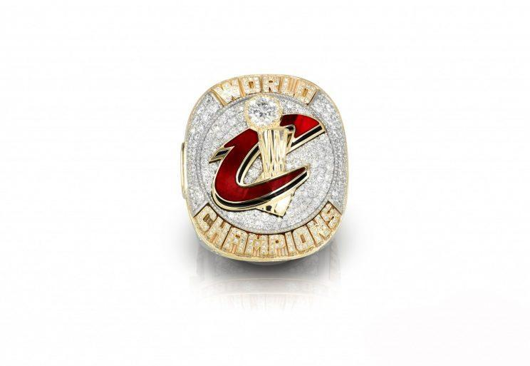 The Cavs' rings are the heaviest in NBA history. (via Cavs.com)