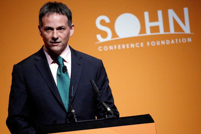 FILE PHOTO -- David Einhorn, president of Greenlight Capital speaks at the Sohn Investment Conference in New York
