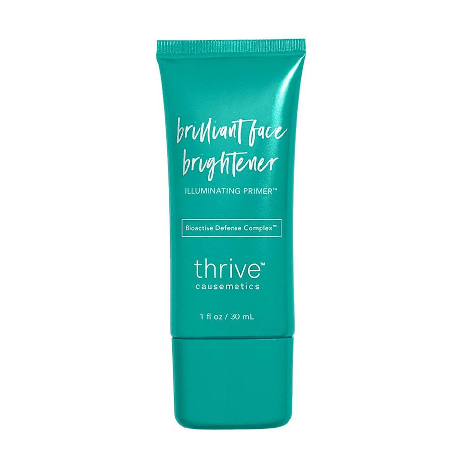 "<p>""The champagne-colored glow the Thrive Causemetics Brilliant Face Brightener Illuminating Primer leaves behind is so pretty, you don't even really need to wear makeup over it. Plus, its hydrating and brightening fruit extracts nourish the skin just like a <a href=""https://www.allure.com/gallery/best-face-moisturizer?mbid=synd_yahoo_rss"" rel=""nofollow noopener"" target=""_blank"" data-ylk=""slk:moisturizer"" class=""link rapid-noclick-resp"">moisturizer</a>."" — <em>Nicola Dall'Asen, staff writer</em></p> <p><strong>$33</strong> (<a href=""https://thrivecausemetics.com/products/brilliant-face-brightener-illuminating-primer#:~:text=Inspired%20by%20our%20best-selling,and%20reduce%20dullness%20over%20time."" rel=""nofollow noopener"" target=""_blank"" data-ylk=""slk:Shop Now"" class=""link rapid-noclick-resp"">Shop Now</a>)</p>"