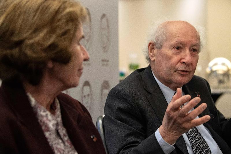 Serge Klarsfeld, who dedicated his life to bringing former Nazis to justice, was speaking alongside his equally celebrated wife Beate Klarsfeld (AFP Photo/NICHOLAS KAMM)