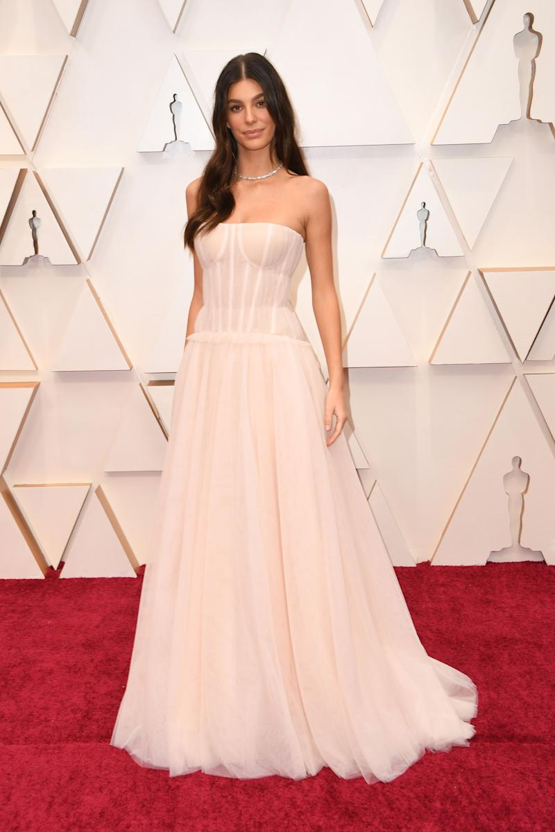 Argentinian model Camila Morrone arrives for the 92nd Oscars at the Dolby Theatre in Hollywood, California on February 9, 2020.