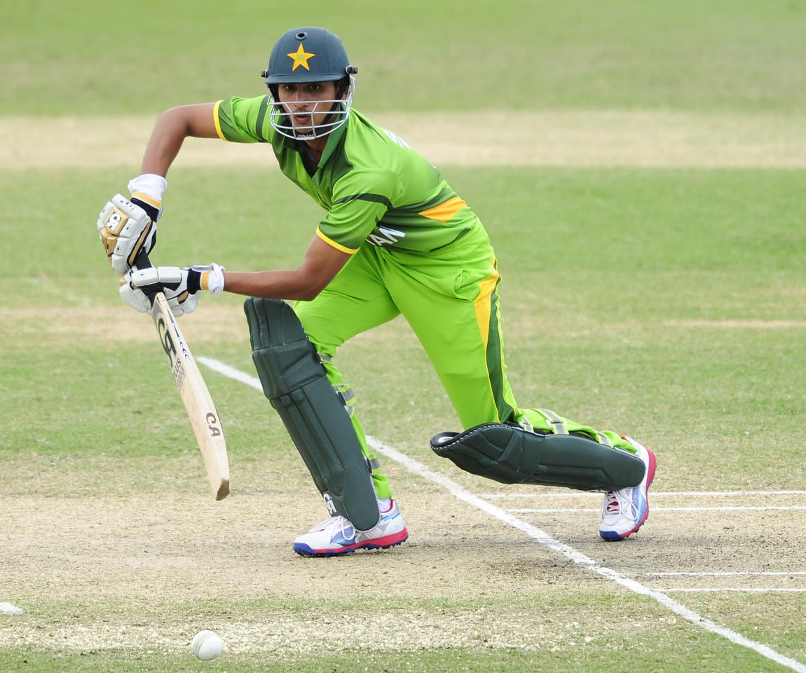 TOWNSVILLE, AUSTRALIA - AUGUST 20:  Syed Saad Ali of Pakistan bats during the ICC U19 Cricket World Cup 2012 Quarter Final match between India and Pakistan at Tony Ireland Stadium on August 20, 2012 in Townsville, Australia.  (Photo by Ian Hitchcock-ICC/Getty Images)