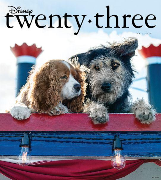 PHOTO: Live-action 'Lady and the Tramp' paws its way onto the cover of Disney Twenty-Three magazine. (Disney)
