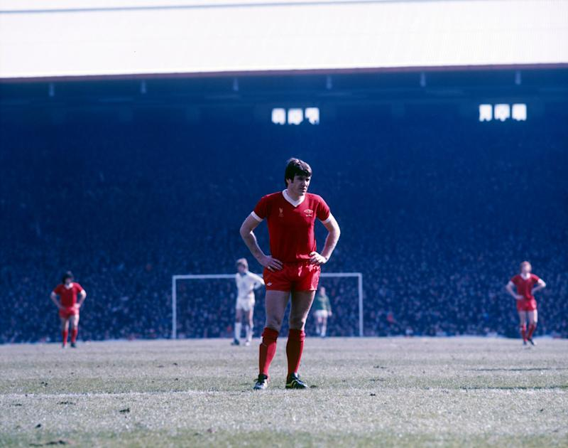 The former Liverpool captain Emlyn Hughes (Liverpool FC via Getty Images)