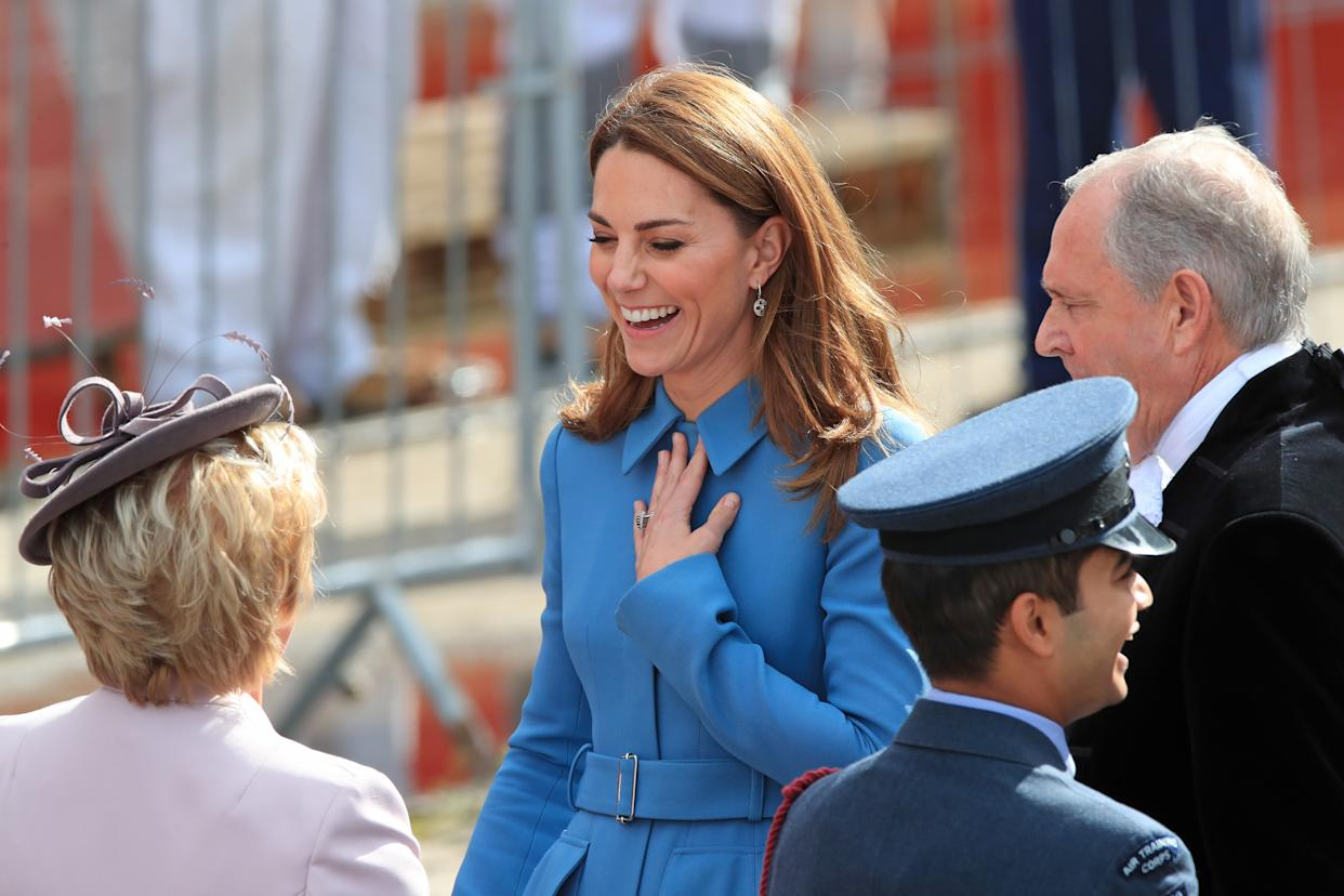 The Duchess of Cambridge arrives for the naming ceremony of the polar research ship in Birkenhead [Photo: PA]