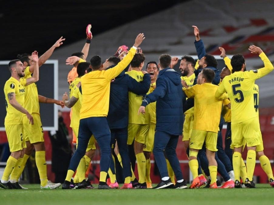 Villarreal celebrate reaching the finalGetty Images