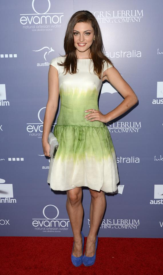 CENTURY CITY, CA - JUNE 27:  Actress Phoebe Tonkin arrives at Australians In Film Awards & Benefit Dinner at InterContinental Hotel on June 27, 2012 in Century City, California.  (Photo by Jason Merritt/Getty Images for AIF)