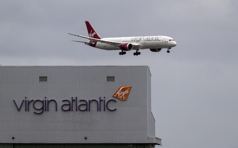 File photo dated 10/03/20 of a Virgin Atlantic plane coming in to land at Heathrow Airport as the airline has announced plans to cut 3,150 jobs.