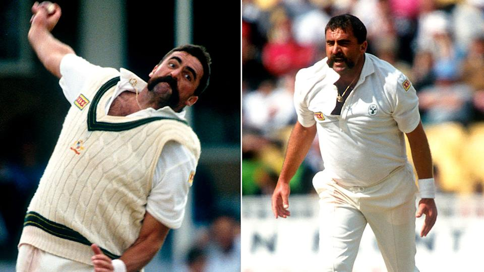 Pictured here, former fast bowler Merv Hughes during his Test cricket playing days for Australia.