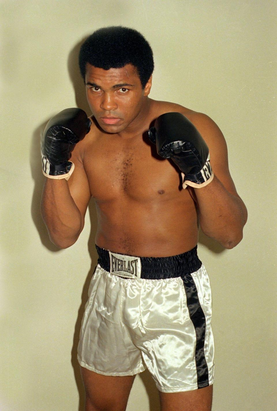 Muhammad Ali is shown training Oct. 9, 1974 for his world championship fight against title holder George Foreman.