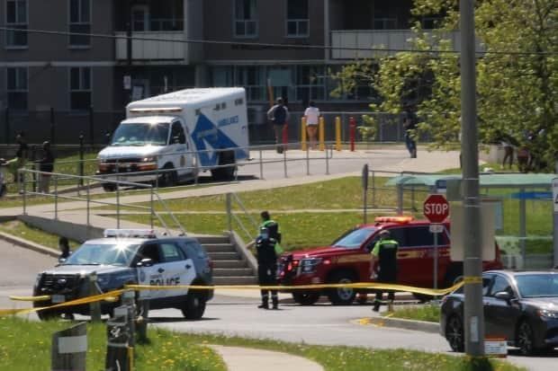 Toronto police said they were called to the Willowridge Road and Eglinton Avenue West area shortly before 2:30 p.m. ET.