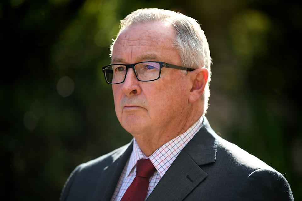 NSW Minister for Health Brad Hazzard during a media conference in Sydney, Monday, July 6, 2020.