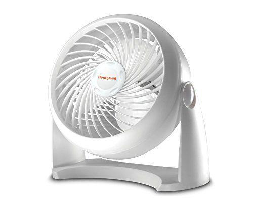 """<p><strong>Honeywell</strong></p><p>amazon.com</p><p><strong>$15.99</strong></p><p><a href=""""https://www.amazon.com/dp/B001R1Q2C6?tag=syn-yahoo-20&ascsubtag=%5Bartid%7C2140.g.36450146%5Bsrc%7Cyahoo-us"""" rel=""""nofollow noopener"""" target=""""_blank"""" data-ylk=""""slk:Shop Now"""" class=""""link rapid-noclick-resp"""">Shop Now</a></p><p>This Honeywell Fan packs quite a punch for being less than $16. If you're interested in a Vornado, but don't want to spend much, this one will do just fine. It has three speeds and a 90-degree pivoting head. Plus, you'll be able to feel this fan's power up to 27 feet away. </p><p><strong>Rave Review:</strong> """"Let's be realistic: when you buy a fan, you want it to move the air. This beauty does it IN SPADES! Even on low, it is still pushing quite a bit of air and does so relatively quietly.""""</p>"""