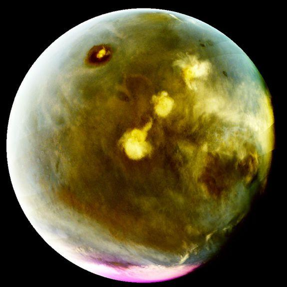 Cloud formations on Mars.