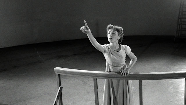 Young Kathryn Beaumont performs a scene from <em>Peter Pan.</em> (Photo: Walt Disney Studios)