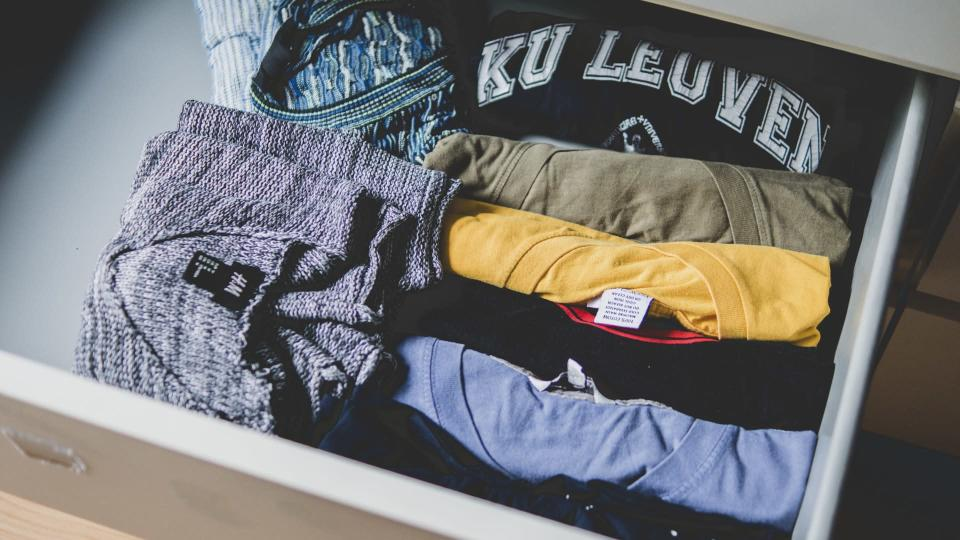 Don't whack new clothes straight in the drawer [Photo: Pexels]