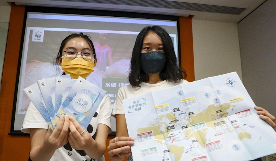 WWF-Hong Kong conservation officers Michelle Wong (left) and Gloria Lai Pui-yin. Photo: Edmond So