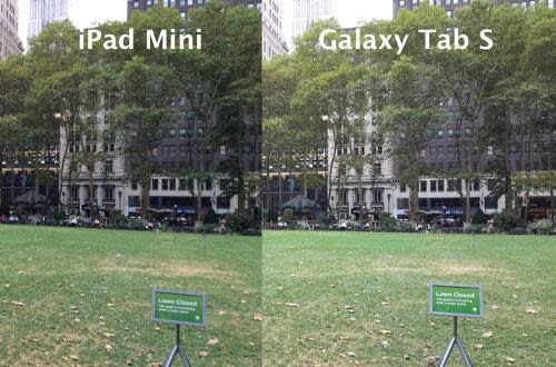 Photos shot with iPad mini and Samsung Galaxy Tab S