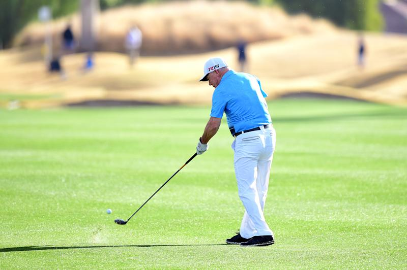 LA QUINTA, CA - JANUARY 21: Amateur Laurent Hurtubise plays a shot from the fairway on the 12th hole during the first round of the CareerBuilder Challenge In Partnership With The Clinton Foundation on the Jack Nicklaus Tournament course at PGA West on January 21, 2016 in La Quinta, California. (Photo by Harry How/Getty Images)