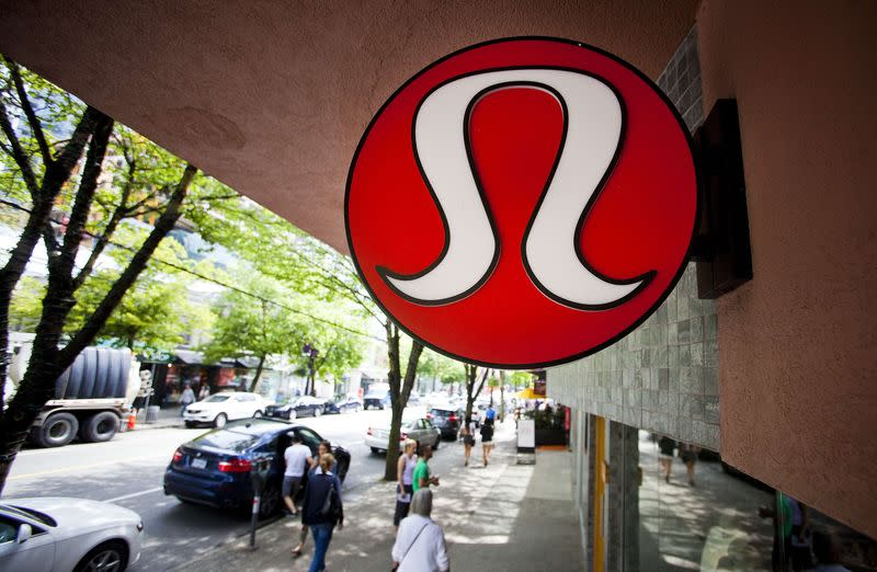 Lululemon Athletica Inc's logo is pictured at its store in downtown Vancouver