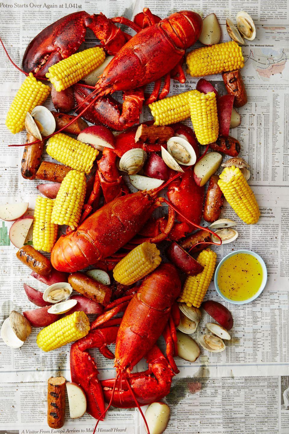 """<p>Is there a more appropriate occasion for lobster than Valentine's day? We think not.</p><p><em><a href=""""https://www.goodhousekeeping.com/food-recipes/a38835/new-england-lobster-bake-recipe/"""" rel=""""nofollow noopener"""" target=""""_blank"""" data-ylk=""""slk:Get the recipe for New England Lobster &quot;Bake&quot;»"""" class=""""link rapid-noclick-resp"""">Get the recipe for New England Lobster """"Bake""""»</a></em></p>"""