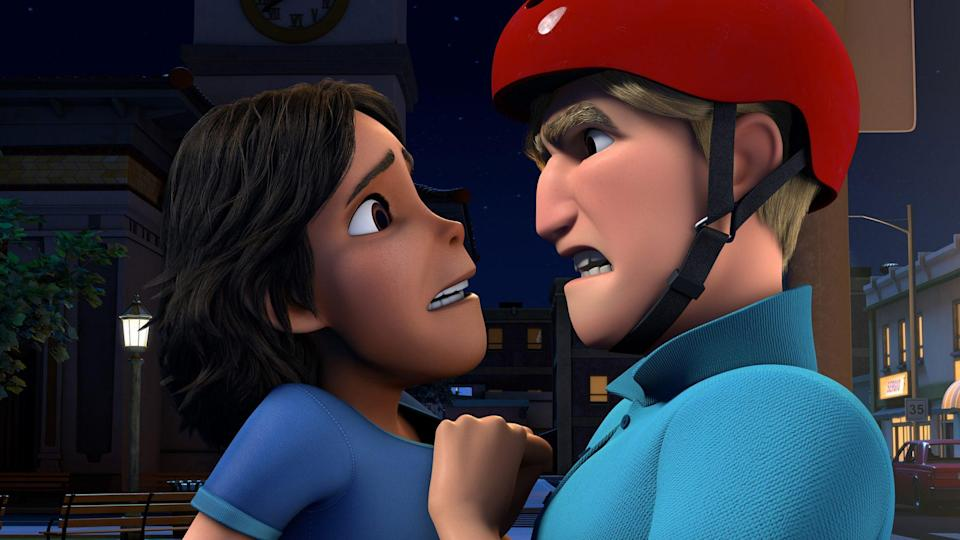 <p>Yeun also plays Steve in Guillermo del Toro's animated action series <em>3Below: Tales of Arcadia</em>, which co-stars actors Glenn Close, Nick Offerman and Diego Luna.</p>