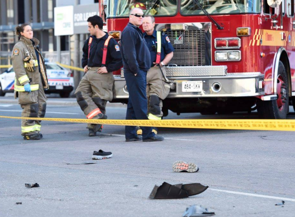 First responders on scene of the Toronto attack that killed 10 people and injured 15.<em> (The Canadian Press)</em>