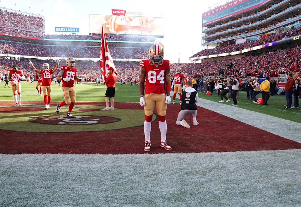 No one will know for days whether 49ers wide receiver Kendrick Bourne has COVID-19, and everyone has to be OK with not knowing as his health takes priority. (Photo by Thearon W. Henderson/Getty Images)