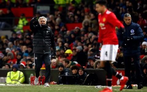 "First came the Champions League defeat to Sevilla that stung Jose Mourinho and then came the passionate defence of his achievements that it provoked, but this was not the sort of victory that was ever going to do anything to improve his mood. Having kept his facial expressions hidden on the touchline during the game with a snood that covered half his face, as United made tough work of knocking Brighton out of the FA Cup, Mourinho did not try to mask his thoughts after it. Even after his name had been sung by United supporters throughout, Mourinho went on the attack, criticising the quality of the performance, as well as the mentality of his players. He knows he is taking a risk doing so, calling out players in public always takes you on to uncertain ground, but the Portuguese seems determined to challenge them. He is testing them, probing for a response, poking and prodding egos, watching for the reaction. This was another insipid, timid display. They may be in the semi-final, their third in less than two years under him, but United will not win either that or the final playing like this. So, Mourinho did not mince his words. .@DesKellyBTS: ""Was you happy with that response?"" José Mourinho: ""No. I didn't like the game."" ""Matić was an island of personality, surrounded by not water but lack of class and desire. I have to say that."" Another strong interview from the Man Utd boss... Wow �� pic.twitter.com/545RSFKDlX— Football on BT Sport (@btsportfootball) March 17, 2018 ""A few of guys I saw them scared to play,"" he said after singling out Nemanja Matic for praise. ""I cannot say much more. It is a relation with personality, is a relation to trust, is a relation to class. ""When the sun is shining and everything goes well, you win matches, you score goals, everything goes in your direction, every player is a good player and wants to play and wants the ball and looks amazing and is confident. ""When it is dark and cold and in football that means a period of bad results or a bad result, not everybody has the confidence and personality to play. To be on the pitch and touch the ball every five minutes, everyone can do it, but to be on the pitch and say give me the ball because I want to play, not everyone can do that. Mourinho was animated on the touchline throughout Credit: GETTY IMAGES ""So, I am really happy with the result and the control we had. I know it could back fire [criticising the players in public] but it is my calculation that they have to be able to play with pressure. If they do not perform well with pressure, what do I lose?"" Yet, for the first time since he became United manager, this was a game Mourinho simply could not lose. There could be no excuses offered, no defence for a defeat, no hope of shifting the blame. When a manager publicly challenges his players in a bid to defend their own reputation, it is their reaction that decides whether it was a blunder or not. If United had been knocked out of the FA Cup here, Mourinho's second season would have been reduced to ruins. Instead, a trophy could still be salvaged from the wreckage. A defeat against Brighton was, after all the drama in the build-up, unthinkable. Winning the FA Cup was not United's priority in August – and it probably never will be for a club with its resources – but it is now. Mourinho always wants to be judged on the silverware he wins and while nobody can seriously argue his second season has gone as well as expected, an FA Cup win, combined with a runner's up finish in the Premier League would at least allow him to claim, with some justification, it has not been a disaster either. Romelu Lukaku scored Man Utd's first goal against Brighton Credit: REUTERS So much would be revealed in how United started the game and with the designated singing section away to Mourinho's right in good voice, they looked in the mood to put their recent disappointment behind them. Brighton were happy to drop deep, to soak up the pressure, but they looked vulnerable as Romelu Lukaku volleyed over and Anthony Martial's control let him down inside the six-yard box. Brighton's supporters knew their team were under the cosh and cheered their first corner like a goal. Minutes later, United's best move sliced through the middle of the visiting defence and Juan Mata's shot was deflected wide. From the resulting corner, Chris Smalling could not squeeze a shot inside the near post. Brighton responded, Lewis Dunk's header from their second corner fisted away by Sergio Romero, but a United goal was coming and it was Lukaku who got it, stretching his neck muscles to get on the end of Nemanja Matic's excellent cross. Has Jose Mourinho changed tactically since his early managerial days? It was his 25th goal in 44 appearances this season, but United needed a second. Brighton, though, came close to an equaliser as Pascal Gross' shot curled narrowly wide. Sergio Romero also needed to make an important save to keep out Jurgen Locadia shot on the turn. Brighton were growing in confidence and were more dangerous the bolder they got, Locadia heading another decent chance over at the far post. For the first time, the home crowd grew apprehensive, reminded of the timidity that had led to that Sevilla defeat, as Smalling and Matic both made important blocks inside the area as nerves spread. Lukaku scored United's opening goal Credit: REUTERS United still have problems to solve, but finally they made sure of their progress into the last four when Matic headed in Ashley Young's cross with seven minutes remaining. ""I'm delighted with the performance, "" said Brighton manager Chris Hughton. ""The only difference were the moments in front of goal and the quality they can produce. We were always in the game."" 9:59PM Reaction Woof. Mourinho was obviously trying to protect his players after that Sevilla defeat but he has absolutely gone to town on them here. ""That's the worst thing you can hear if you're a player, questioning your desire,"" says Paul Scholes. Mourinho was up on his feet trying to urge them forward, getting the team to follow that attacking setup but the players didn't carry it out. No wonder he's frustrated - it makes Mourinho look like he's stuck in defensive mode. But he says he's not. I agree Matic was the best player on the pitch, followed by Lukaku. Smalling was awful throughout and looked scared to pass forwards, Valencia didn't seem quite at it, Martial only wanted to attack, Lingard couldn't get involved. They need more. 9:56PM Jose Mourinho rips into his players ""No. I didn't like the game. I think we deserved to win, we scored goals but we didn't play the way I want the players to play. I had a reaction from some of them, some of them were mentally strong enough and with quality to play. A team of 11 if you do't have a minimum of six or seven players playing with responsibility so I'm not happy with the performance at all. ""When I spend two days working on a faster building gap, between the lines, that depends on the defenders and the movement of the attacking players. Here attacking players hiding behind players, defenders playing square passes taking 10-12 passes to go to another line. ""Statistic is fake. Sometimes they have 10 shots and eight of them go to the stands and one goes in goal but is a shot to save. What means for me is that we prepare the team to play a different way, be aggressive, attack the last line much more, play between the lines much more but attacking players wanting the ball. ""It was a decision from one player to another player in the same position. I want to defend better, I want my defensive line to be better from a few moves from the sides and I wanted more personalities on his own. I felt Matic was an island of personality, surrounded by not water but lack of class, lack of personality, lack of desire. McTominay lost more passes today than in all the matches together but he was a Manchester United player. When he plays bad he gives for the team."" 9:37PM FULL TIME Gross has another shot from long range but that's it. Mourinho gets the job done. 9:36PM 90 mins +2 Gross very nearly scores as he twists and turns in the box and wrong foots Bailly but Romero can catch the shot as it's hit right at him. United have seen this out. The semi-final awaits! 9:34PM 90 mins Fellaini comes on for Lingard. Young is absolutely fine to continue. United take their time with a throw-in high in the Brighton half, Rashford goes through a few tricks on the edge of the area and wins some space doing so! A pass is chipped ahead of Fellaini but is cleared, Brighton win the ball and try to go forwards. United shut them out. 9:30PM 87 mins Brighton have a corner. Kayal has it on the edge of the box but gives up possession way too easily to Rashford, who also can't keep control... and United come out from the back. Young is down on the floor having landed really awkwardly. Let's hope he's OK. 9:28PM GOOOOOOOOOOOOAAAAAAAAAAAAAAAALLLLLLL! man utd 2nd goal What. How? From where? United win a free-kick wide left, the ball is hooked into the area and Matic is calm and composed to finish past the goalkeeper. I don't know if I can really say United have deserved this, they've been so poor but have a two goal lead. 9:26PM 83 mins Brighton doing all the attacking at the moment. A cross is poked ahead of Murray but is just too far ahead for the striker to get a touch. Man Utd haven't had a single shot on goal in this second half apparently. That is both appalling and very funny. I'd not even noticed! 9:25PM 82 mins Credit: REUTERS 9:24PM 80 mins Martial gets shirty and thrusts his chest into a rival male. The referee doesn't care. Mourinho is having an animated discussion with Hughton about... I think... tactics. It feels a little bit like Mourinho is playing to the cameras here tonight. 9:21PM 77 mins Glenn Murray is on now. BT Sport are wondering why he wasn't called up to the England squad. Come on, lads. Yes he scores goals but do you really think Glenn Murray should be a World Cup option for England? 9:17PM 74 mins Juan Mata is substituted and the home fans don't seem too happy about it. Here comes Rashford though. Maybe he'll help a little more in defence - Locadia is enjoying himself down that flank. 9:14PM 71 mins Smalling is torn apart by an obvious one-two move but Izquierdo (who's just come on) fires his cross into the first man. Brighton keep up the pressure, Izquierdo tries to work space on the edge of the area... but his shot is blocked again. And then Locadia comes across from the left, beats Bailly easily and has a great chance to shoot! But he blasts his shot straight at Smalling! Horrible defending from United. 9:10PM 68 mins Credit: PA It's so slow. United really are playing this one like it's La Liga but when they get to the Brighton half, forget to move into space to let the passes flow. Brighton are sitting deep, winning the ball pretty easily and then getting forward quickly. A cross from right is struck towards the back post and LOCADIA IS THERE AGAIN! He's headed over from six yards! Oh what a miss! United are there to be beaten... Brighton just need to be careful not to fall into a Mourinho trap. 9:08PM 65 mins Good defending by Valencia! All of a sudden the United back four opens up and there's a chance to run at goal but Valencia reads it before the centre-backs have realised what's going on and sprints over to deal with the danger. 9:04PM 62 mins United go up a gear and they needed to. Bailly is the deepest player and he's in the Brighton side of the centre-circle now. They're passing quicker too. But there's still not enough movement - everyone's rigid and static, when they really need some movement to open up passing lanes and pull the defence apart. Brighton aren't having to work to keep things quiet here. 9:01PM 59 mins The ball ends up with Duffy from the corner and he hits a bending pass into the six yard area but puts a little too much on it. Romero gathers. Romero has probably been Man Utd's best player. Hmm. 9:00PM 57 mins LOCADIAAAAAAA! Saved by Romero! The forward turns on the spot outside the penalty area and launches a volley at the top corner which the goalkeeper has to be alert to! It's a corner. 9:00PM 56 mins Credit: AP 8:57PM 54 mins Brighton are enjoying the ball at the moment. They have time and space in the United half, nobody's closing them down, and Locadia takes a shot from 20 yards which Romero has to save at the bottom corner. 8:55PM 52 mins GROSS! Goes close. A rhyme! Hooray. Anyway, Brighton attack down the left, the ball is cut inside and Gross sees Smalling coming towards him and slices through the ball, drilling it low towards the bottom corner but just the wrong side of the post. 8:53PM 50 mins Smalling out-muscles Ulloa. Schelotto gets caught out of position but Lukaku doesn't really seem to realise it early enough and Dunk follows him wide to win the ball. Throw-in. 8:51PM 48 mins More of the same so far. Brighton want to counter-attack, United passing patiently/slowly. 8:48PM KICK OFF 2 kick off 2 Aaaaaand that might be the end of Luke Shaw's Man Utd career. He's been subbed at half time for Ashley Young. Let's see if that's because of an injury... otherwise... it's not good. 8:41PM Ordinary United Brighton have been good but just don't have the players to punish a very ordinary looking Man Utd team. They've been pretty slow, have hardly threatened... and if Brighton had players to really take advantage of the weaknesses the scoreline might be quite different. The BT Sport panel have pointed out that Mourinho has been up on his feet all through the game urging his players to attack. I can't remember him doing that too many times before. 8:32PM HALF TIME: Man Utd 1 Brighton 0 United have the lead without reeeeeeeeally pushing Brighton for it. Hughton will be disappointed to be behind. 8:31PM 45 mins +1 Brighton attack and get a couple of decent crosses into the area but Romero deals with them. They're looking for an equaliser before half time but United are keeping things tidy to make sure they see it out. 8:30PM 44 mins Credit: REUTERS 8:29PM 43 mins Gross gives the ball away and Martial is onto it! United have men over! But the ball is passed straight to the Brighton defence. 8:27PM 42 mins Brighton are keeping a compact shape as United get men forward and Valencia is able to run into the box but has no options, such are the numbers back defending. 8:26PM 40 mins United seem a lot happier since that goal and are stroking the ball around with purpose in the Brighton half. 8:24PM GOOOOOOOOOOOOOAAAAAAAAAAAAAALLLLLL! lukaku goal But that doesn't matter! United are patient in their build-up play, Matic has it wide left and hits a brilliant cross with pace and dip towards Lukaku. He finishes the job at close range. 8:22PM 37 mins 74 per cent possession to Brighton in the last five minutes. 8:20PM 35 mins Another dangerous Brighton move is intercepted by McTominay in his own six yard box. Luke Shaw isn't offering much of a battle down that left side for United. 8:19PM 33 mins The corner is good.. and HEADED AT GOAL! Dunk has a free header but Romero is equal to it. There's such a lack of fight in this United team. They look really short of confidence. 8:17PM 32 mins This is what United's shape looks like at the moment. That area is where Brighton are keeping the ball when they have possession. Their first plan of attack is still high balls over the top for the forwards to chase though. 8:16PM 31 mins This is better from United! They get to the final third and ping a one-two move together that gives Mata the chance to shoot! Corner! That is curled into the box, comes off a defender and lands with Smalling inside the six yard box! He must score! But he's put it wide!!! 8:15PM 29 mins United's defensive midfielders are so deep! There's a huge gap between defensive midfield and their attackers, and Brighton are using that space to keep possession. 8:12PM 26 mins Brighton look more likely to score than United at the moment! Their attacking play is much more fluid and direct. A low cross into the box is cleared behind by Bailly. Corner. It's headed away by Lukaku and falls with March about 30 yards out. He shoots! But that effort will be more use to Brighton as an asteroid repellent than attempt on goal. 8:09PM 24 mins Schelotto runs in behind Martial, who stops! He's just offside but he's able to run clean in behind the defence and nearly beats Romero to the ball too. Martial completely switched off there, as though he didn't realise it was his job to track that ball over the top. 8:06PM 21 mins Mourinho doesn't look happy on the touchline. His team have started without that aggression and desire he needs from them and Brighton have grown into the game. But that's a dreadful mistake as a pass back to the goalkeeper is put out for a corner. United come up the pitch to take it, go short, take forever with their passes... and Martial bends a cross into Lukaku! Headed away. 8:04PM 19 mins Credit: GETTY IMAGES This is a good spell of possession for Brighton. They've got United on the back foot and that defence doesn't look incredibly confident when balls are put into the area. 8:02PM 17 mins Brighton take their turn to keep the ball for a bit but they're looking for big switched passes to move United around and then get forward from there. Gross has the ball on the right and beats Shaw, then cuts back and loses control. Throw-in. 7:59PM 14 mins United totally in control of possession but their passing is slow and predictable. Always sideways. Martial passes to Lingard, who shoots from 25 yards... it swerves way wide of goal. 7:57PM 12 mins Hughton is up on the touchline yelling instructions at his players as to who and when to press. His team is clearly looking for long balls over the top on a counter-attack. They're sitting deep and filling the space in their own half. But Valencia has found some space on the right! He crosses in towards Lukaku, who does well to get ahead of the defender but shoots high and wide. 7:54PM 9 mins The fans are in good voice tonight, though that could be the away fans I can hear. I don't fancy having to head back to Brighton in this weather! Mata is drifting all around the final third into space and linking United's passing moves. Smalling really doesn't want to have the ball at his feet and passes it to someone else as soon as he has it. 7:51PM 6 mins United are really taking their time with the passes. It's like a La Liga game and Brighton look dangerous on the counter-attack. It's also quite cool that you can see the passing lines on the snow! 7:49PM 4 mins Brighton are keeping United in their own half. The central defenders are passing sideways rather than bringing it out from the back but United work their way forward eventually. Martial comes inside from the left and lines up a shot... deflection... corner. 7:47PM 2 mins United are a 4-2-3-1 and the ball is slowing in the settling snow as they pass it around their own half from kick-off. Bailly misses a bouncing ball from a Brighton clearance and fouls the striker nipping onto it, play continues, Brighton win a throw-in. 7:46PM KICK OFF man utd kick off Here we go! Brighton have never won at Old Trafford - could that change tonight? 7:42PM Here come the players The snow is absolutely pelting down! Weird. 7:36PM Pre-match comments Jose Mourinho ""Important, very important. Especially because it's a knock-out match. If we want to stay in the competition we have to win! ""They improve at every level. They were difficult when they came in the Premier League, of course experience improve, couple of new players, amazing work by Chris. They don't have anything to lose, they are in a good position in the league, they are relaxed I expect."" Chris Hughton ""I'm not sure of freedom and enjoyment! We're here for a reason against a team who are clear favourites but we've been competitive in recent games."" 7:33PM Pogba and Sanchez on the bench It's a big call but if you've seen United play recently, you'll almost certainly agree with Mourinho's decision to drop both. They have been dreadful. Sanchez looks like he's chasing his own shadow, hitting passes to nobody, lifting high passes into the area to particular target and then yelling at teammates for various reasons. 7:28PM Clearing the pitch Credit: OFFSIDE The pitch should still be OK to play on but if snow keeps falling like it has done today, it'll make things interesting. 7:18PM There are rants... and then there are RANTS If you haven't yet caught up with Jose Mourinho's 12-minute ramblings in his press conference yesterday, now is the time to do so. You can read the entire transcript HERE. Here is how it all began: I say to the fans that the fans are the fans, and the fans have the right to have their opinions and to have their reactions. ""But there is something that I used to call football heritage - I try to translate from my Portuguese, which is almost perfect to my English that is far from perfect. ""But translation, word by word is something like football heritage and what a manager inherits is something like is that the last time Manchester United won the Champions League, which didn't happen a lot of times, was in 2008. The (last) final was 2011... Credit: getty images 7:09PM Shuffling the pack Alexis Sanchez starts a Manchester United match on the bench for the first time since his January arrival, with Paul Pogba another among the substitutes. Sanchez has flattered to deceive since his high-profile arrival and is part of a strong-looking bench named by United manager Jose Mourinho. Scott McTominay, Luke Shaw and Anthony Martial are among those to come into the United side, while goalkeeper Tim Krul is part of Brighton's five alterations. 7:07PM Team news Manchester United: Romero, Valencia, Bailly, Smalling, Shaw, Matic, McTominay, Mata, Lingard, Martial, Lukaku. Subs: De Gea, Lindelof, Young, Fellaini, Pogba, Sanchez, Rashford Brighton: Krul, Schelotto, Dunk, Duffy, Suttner, Kayal, Propper, Gross, Locadia, Ulloa, March. Subs: Maenpaa, Bruno, Goldson, Sanders, Izquierdo, Baldock, Murray. Referee: Andre Marriner 6:53PM Match preview What is it? Manchester United vs Brighton in the sixth round of the FA Cup. Both sides' only hope of silverware this season. When is it? Saturday the 17th of March, also known as Paddy's Day. What time is kick-off? A Saturday prime time viewing 7:45pm! What TV channel is it on? BT Sport 1 from 7:30pm, straight after the Liverpool game has finished. Has Jose Mourinho changed tactically since his early managerial days? What is the team news? Phil Jones, Marcos Rojo, Daley Blind, Ander Herrera and Zlatan Ibrahimovic are all ruled out through injury but Jose Mourinho is likely to make changes to his team after a disappointing performance in defeat to Sevilla midweek. Speaking of Mourinho, he went full Benitez with his written press conference rant following the Champions League exit, including: Midfielder Nemanja Matic and striker Romelu Lukaku were the only players who had delivered consistently all season and that ""many Sevilla players"" would walk into his United side. The challenge of trying to topple City was similar to the task he faced overhauling Barcelona with Real Madrid but warned at the Bernabeu he possessed ""a nucleus of players of a really high level"". His squad must ""grow up"" and match the ""high expectations"" of fans. United could remain ""side by side"" with City if their rivals stop spending but otherwise City will be ""difficult"" to catch. Ed Woodward, United's executive vice-chairman, was ""on exactly the same page"" and recognised the huge job at hand and need to spend. Jose Mourinho launches astonishing attack on his Man Utd players Brighton are missing Anthony Knockaert through suspension and Dale Stephens and Gaetan Bong are both doubtful, nursing little injuries. Steve Sidwell is still also stuck in the physio room. Best-priced accumulators 