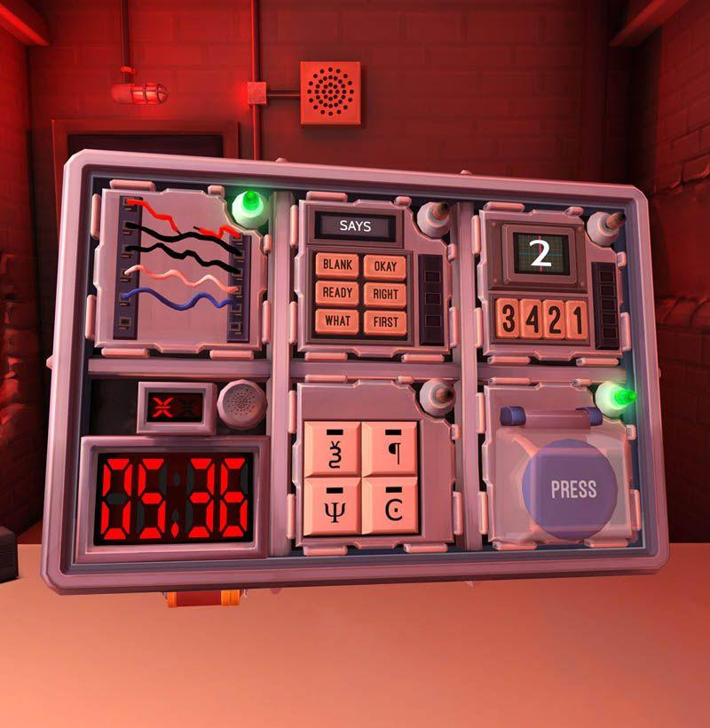 "<p>This frantic, nerve-racking party game sees one player wearing a VR headset or holding a Switch with a bomb full of puzzles right in front of them. The key is communication. The player with the bomb needs to relay what they see to their teammate, who is equipped with a manual to help defuse the bomb. Suit up MacGyver, because you're going to feel like the most badass team out there. Or, more than likely, you'll scream and cry because no one can get their shit together. <em>—C.S.</em></p><p><a class=""body-btn-link"" href=""https://keeptalkinggame.com/"" target=""_blank"">Buy</a> <em><a href=""https://keeptalkinggame.com/"" target=""_blank"">keeptalkinggame.com</a></em></p>"
