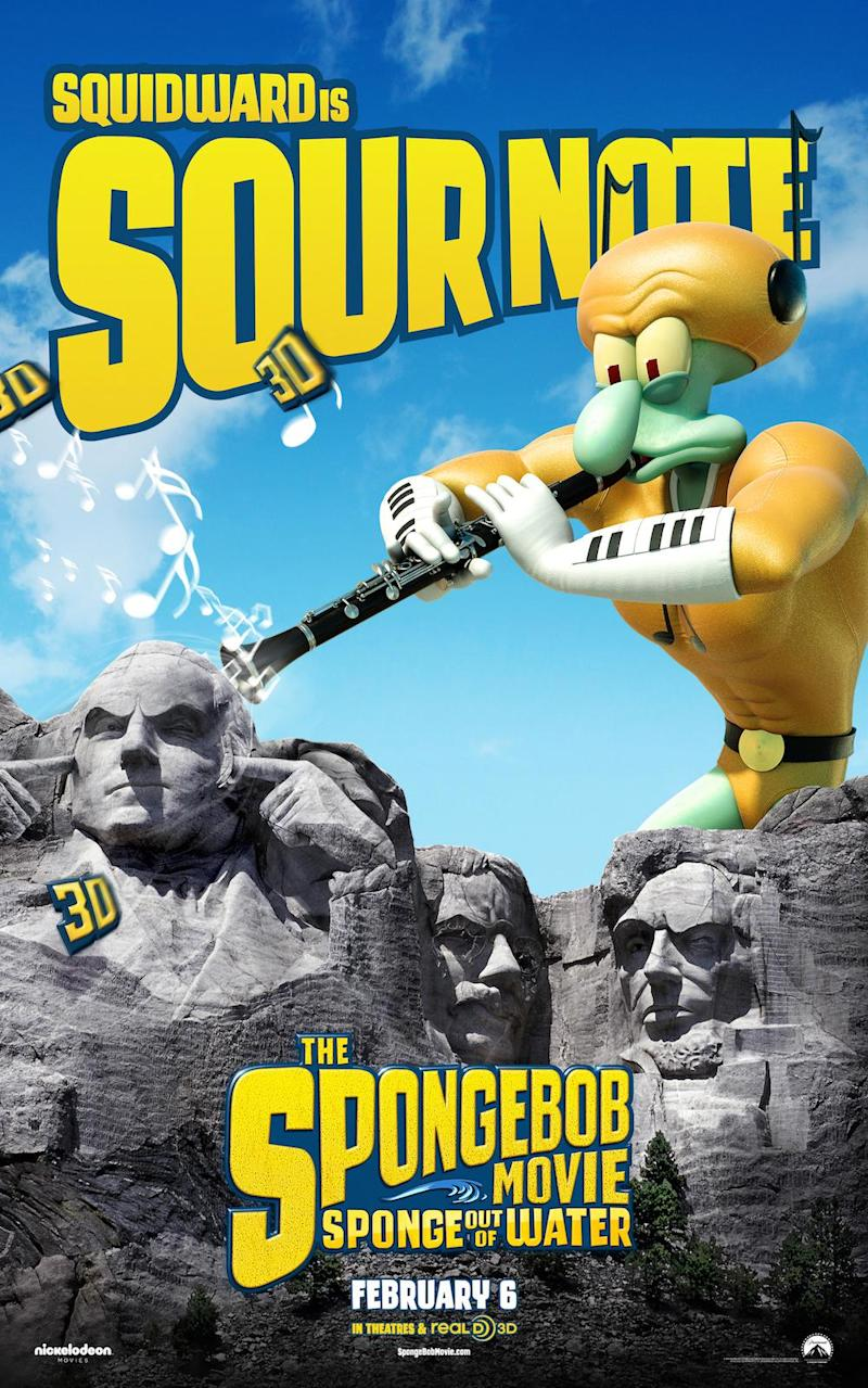 The SpongeBob Movie: Sponge Out of Water Squidward poster