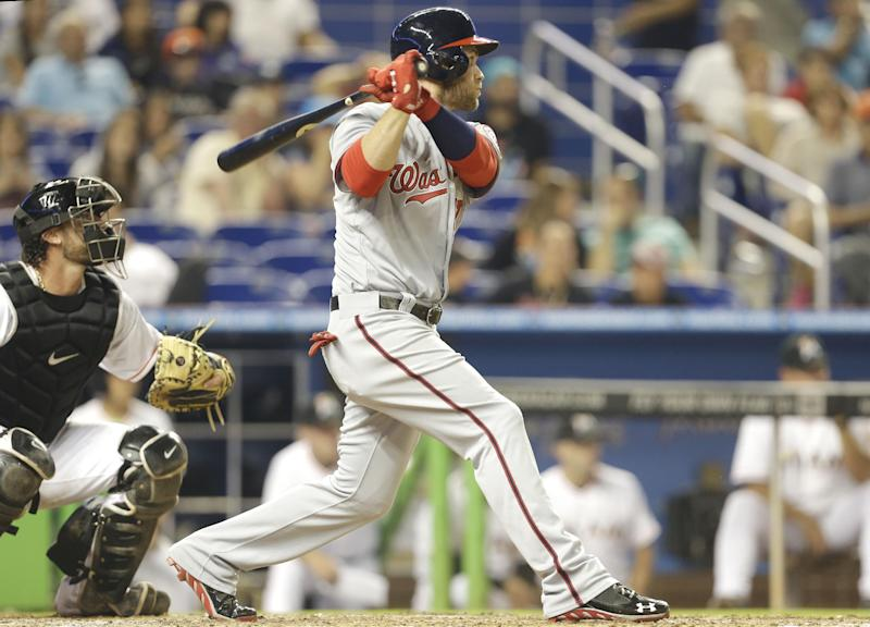 Harper scratched from Nats' lineup against Marlins
