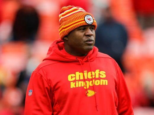 Kansas City Chiefs offensive coordinator Eric Bieniemy was overlooked for a head coaching position this offseason (Getty)
