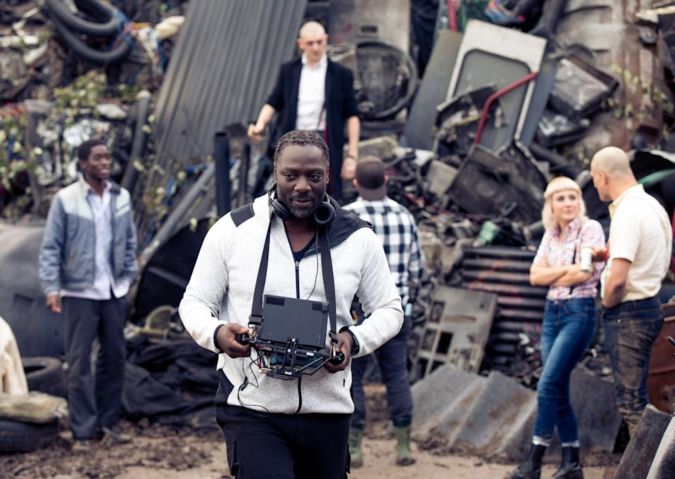 Adewale Akinnuoye-Agbaje on the set of his directorial debut 'Farming'.