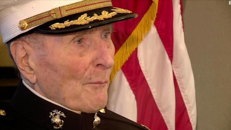 A 104-year-old Marine Corps veteran is asking people to send him Valentine's Day cards