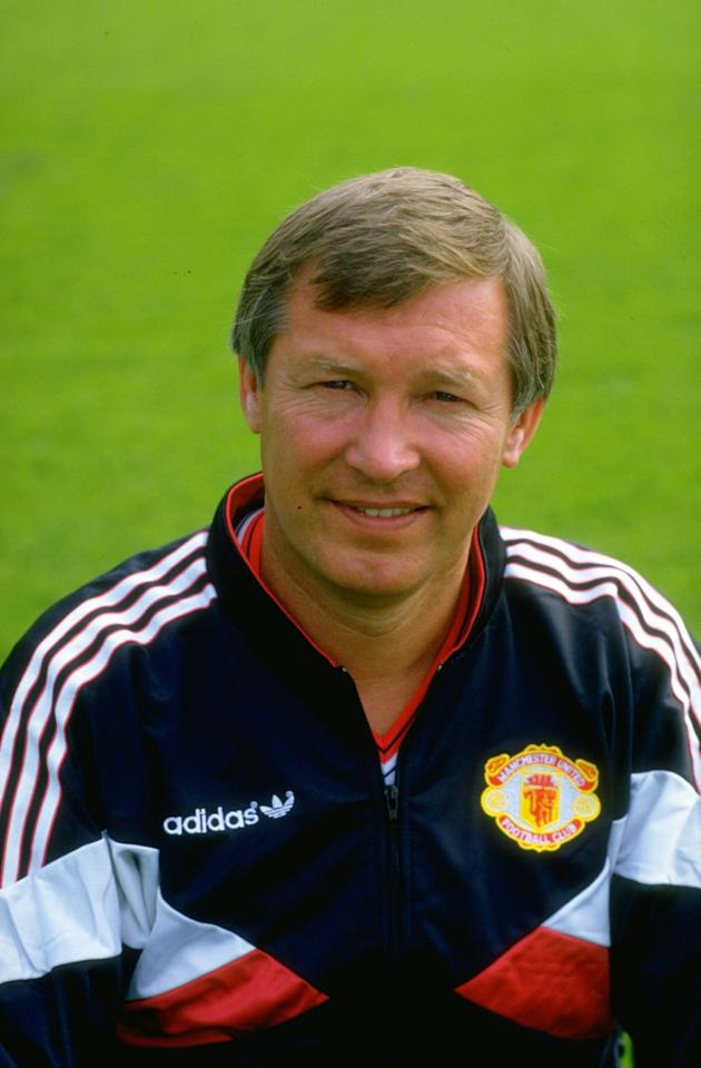 1987:  Portrait of Manchester United Manager Alex Ferguson during a photocall at Old Trafford in Manchester, England. \ Mandatory Credit: Russell  Cheyne/Allsport