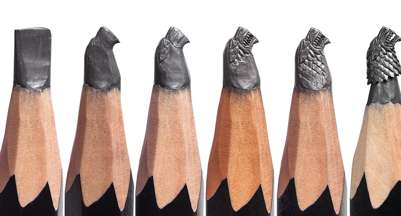 [PHOTOS] 'Game of Thrones' pencil microsculptures at Scotts Square