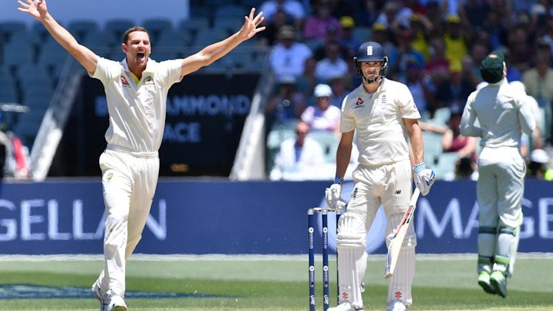 Josh Hazlewood says the Australians are surprised at how readily England's batsmen capitulated.