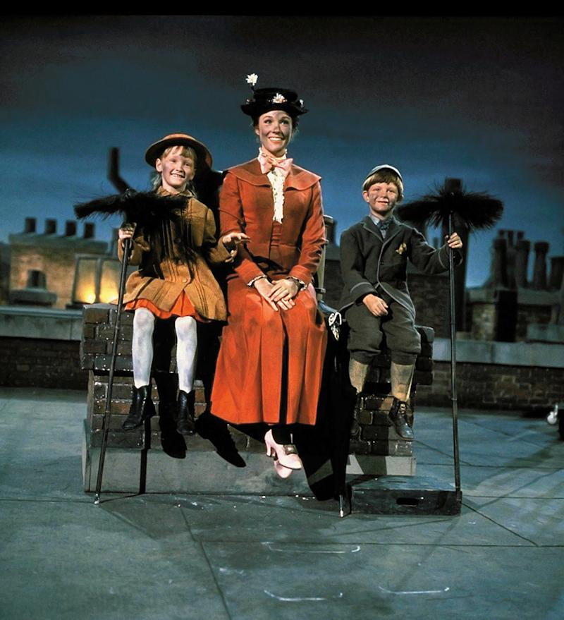 Julie Andrews in the film that won her an Oscar, Mary Poppins