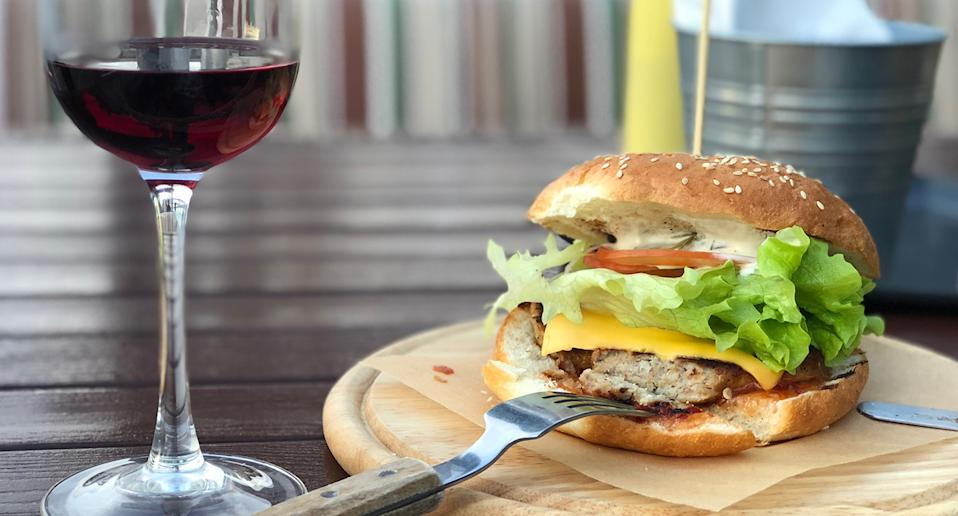 Ever wanted to know what wine goes well with a burger, a peanut butter and jam sandwich or crisps? (Getty Images)